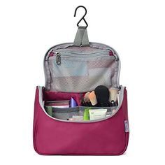 36f235536d07 Mountaintop Toiletry Bag Makeup Organizer Cosmetic Bag Portable Travel Kit  Organizer Household Storage Pack Bathroom Storage with Hanging for Business  ...