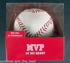Hallmark Most Valuable Player MVP OF MY HEART Stitched BASEBALL