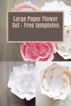 paper flower free svg and printable templates and tutorial