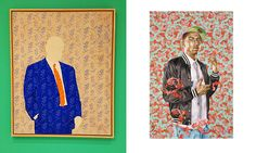 What do you think is the likelihood that Kehinde Wiley's paintings (at right) were influenced by the 1960s paintings of Konrad Leug (at left) ...?