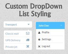 Custom Drop-Down List Styling. http://tympanus.net/Tutorials/CustomDropDownListStyling/