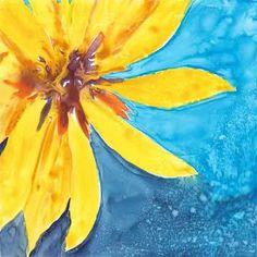 Day 12. 6 x 6 in. watercolor on Yupo. © 2015 Sheila Delgado
