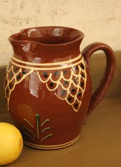 .Redware Pitcher