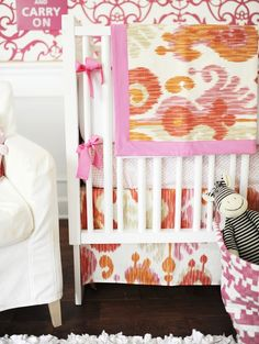 Ikat Crib Bedding
