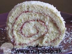 Kokosová roláda Vanilla Cake, Pie, Desserts, Food, Torte, Tailgate Desserts, Fruit Tarts, Dessert, Pies