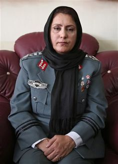 """Afghani Col. Jamila Bayaz was appointed the country district police chief at the beginning of 2014, making her the first female district police chief in Afghan history. """"I think for those [women] who didn't want to go out in a uniform, I can be their inspiration,"""" she told GlobalNews. #iamthatgirl #IATGNOC"""