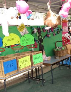 recycling games to play with kids | Recycling hoopla game at school fair