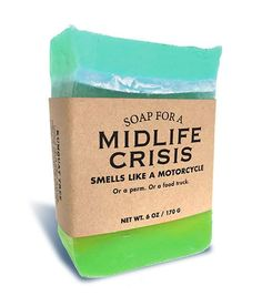 Soap for a Midlife Crisis Smells like a motorcycle. Or a perm. Or a food truck. Whiskey River Soap, Funny Candles, Soap Company, Soap Making, Hand Making, Food Truck, Just In Case, Bath And Body, A Food