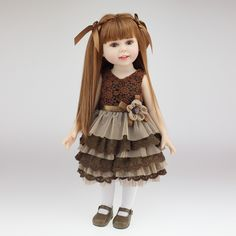 UCanaan Amerikanischen 18 ''45 CM NPK Süße Mädchen Puppe Brown Lange Gerade Haar Handgemachte Volle Vinyl Silikon Reborn Baby Puppe Spielzeug Mädchen(China (Mainland))