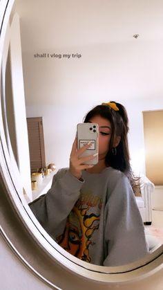 Grey Brown Hair, Girl With Brown Hair, Kawaii Fashion, Girl Fashion, Fashion Outfits, Grey Pictures, Forever Girl, Girls Mirror, Loren Gray