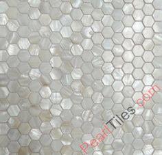 Hexagonal Mother Of Pearl Mosaic Tiles Hexagon Shell Tiles