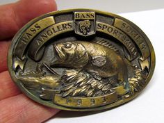 Vintage Belt Buckle, Bass Anglers Sportsman Society, 1993 by VINTAGEandMOREshop on Etsy https://www.etsy.com/listing/220831429/vintage-belt-buckle-bass-anglers