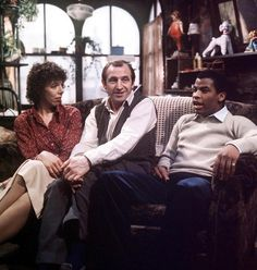 Frances de la Tour, Leonard Rossiter, Don Warrington in Rising Damp - 1978 Leonard Rossiter, 60 Year Anniversary, Rising Damp, The Bourne Identity, Are You Being Served, Where Eagles Dare, Uk Tv, British Comedy, Comedy Tv
