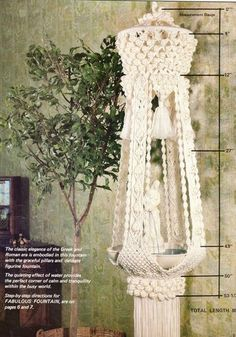Vintage Classic Macrame Book Retro 1970s Macrame Patterns PDF | Etsy Bird Cage Covers, China Display, Craft Quotes, Flamingo Pattern, Macrame Patterns, Unique Home Decor, Vintage Patterns, Plant Hanger, Fountain