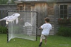 Homemade lacrosse net