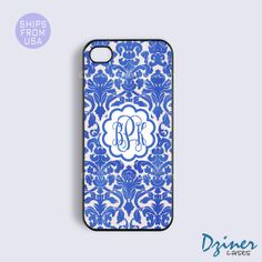 iPhone 5s Case Monogrammed iPhone 5c cover by DzinerMonogram, $13.99