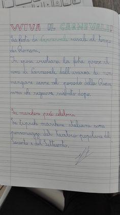 Classe Terza- Febbraio- Italiano- Carnevale - Maestra Anita Bullet Journal, Education, School, 3, Play, Geography, Alphabet, Art