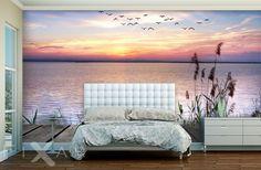 Romatischer Sonnenuntergang - Fototapete für Schlafzimmer - Schlafzimmer-Tapeten - Fototapeten - FIXAR.de