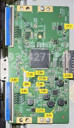 Sony Led Tv, Electronic Circuit Projects, Double Image, Electronics Basics, Tv Panel, Samsung Tvs, Circuit Design, Red Led, China