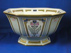 Bernardaud & Co. (B&Co.) Limoges Art Deco Floral Motif Centerpiece Bowl (c.1914-1930)