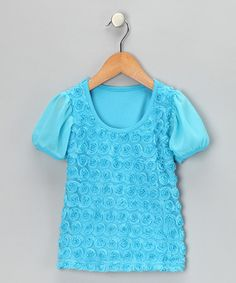 Take a look at this Turquoise Rosette Tee - Infant, Toddler & Girls by Share n' Smiles on #zulily today!