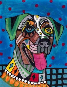 Catahoula Leopard Dog Art Print Poster of by HeatherGallerArt, $24.00