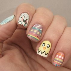 Easter nails by lacqueredmama http://instagram.com/p/mgVS3rABbv/