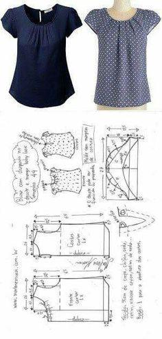 Best Photographs Crochet slippers summer Ideas blusa drapeada no decote com manga baby look Dress Sewing Patterns, Blouse Patterns, Clothing Patterns, Blouse Designs, Shirt Patterns For Women, T Shirt Yarn, T Shirt Diy, Crochet Shirt, Crochet Baby