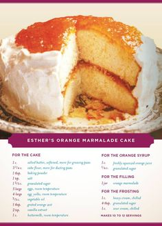 Orange Marmalade Cake Recipe Jan Karon