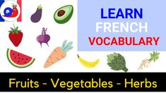 In this video, you can listen to a large list of words related to fruits, vegetables and herbs in French. A great way to improve your vocabulary. Learn French Beginner, Improve Your Vocabulary, Fruits And Vegetables, Improve Yourself, Herbs, Learning, Snail, Fruits And Veggies, Studying
