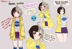 Moon-chan is here by BSApricot | Earth-chan | Know Your Meme