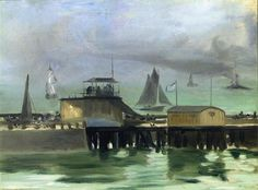 The Jetty at Boulogne  - Edouard Manet