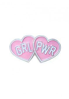 GRL PWR PIN BADGE