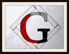 Order Any initial in your own team colors: Example shown Georgia Bulldog colors by jpglass on Etsy