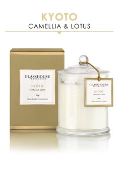 KYOTO Glasshouse Fragrances Triple-Scented Candles 350G from Peter Alexander