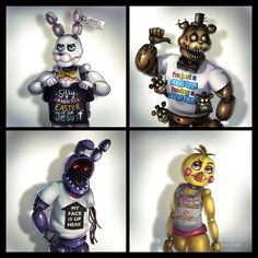 FNaF Characters wearing Cursed T-Shirts - fivenightsatfreddys Five Nights At Freddy's, Joker Film, Fnaf Wallpapers, Fnaf Sl, Ship Drawing, Freddy 's, Fnaf Characters, Fnaf Sister Location, Fnaf Drawings