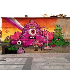Murals Street Art, Monster Art, Outdoor Art, Street Artists, Types Of Art, Traditional Art, Rome, Behind The Scenes, Graffiti
