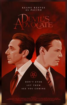 """Keanu Reeves, """"Devil's Advocate"""". Al Pacino, Good Movies To Watch, Top Movies, Charlize Theron, Keanu Reeves, 8k Tv, Hollywood Poster, Godfather Movie, The Devil's Advocate"""