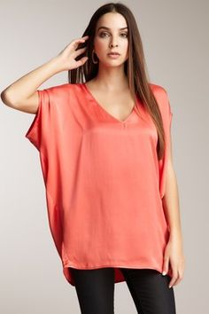 Love this V-Neck Silk Tunic!