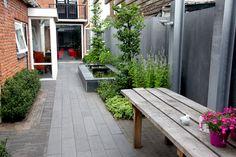 Afbeeldingsresultaat voor smalle tuin ontwerp