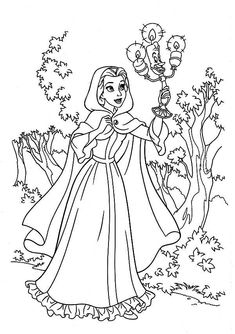 belle sitting on stone beauty and beast disney coloring pages printable and coloring book to print for free. Find more coloring pages online for kids and adults of belle sitting on stone beauty and beast disney coloring pages to print. Belle Coloring Pages, Disney Coloring Pages, Coloring Pages To Print, Coloring Book Pages, Printable Coloring Pages, Coloring Pages For Kids, Disney Love, Disney Belle, Disney Printables