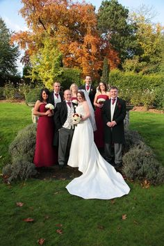 Bride, groom and party image