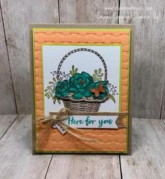 Stampin' Up! Blossoming Basket Weave Sneak Peek for the Happy Inkin' Thursday Blog Hop | Stamps – n - Lingers