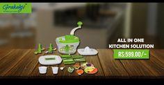 ALL IN ONE KITCHEN SOLUTION WITH ATTA KNEADER #kitchen #appliances #home #aata #kender #online #shopping #grahakji