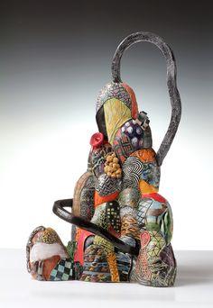 Patternscape: City of Hills by Tiffany Schmierer of San Francisco, CA. 2014 NICHE Awards Finalist. Category: Ceramic, Sculptural. #ceramic, #sculpture