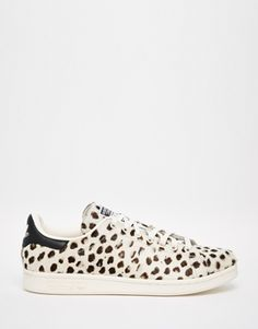 adidas Originals Cheetah Print Pony Stan Smith Trainers