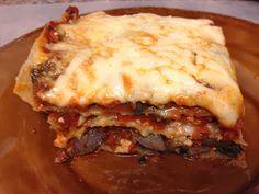 Spinach and Mushroom Lasagna with Homemade Ricotta and Homemade Pasta