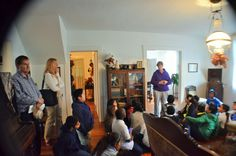A school group in the King-Cromartie house.