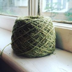 My first ball of nettle yarn! From plant to fiber to yarn - and next to textile. #naturesabundance