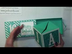 No.260 - Jack's Birthday Poppin Box Card - JanB UK Stampin' Up! Demonstrator Independent - YouTube
